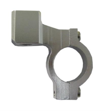 Picture of Mirror Clamp 10mm CNC Alloy Silver Yamaha Thread