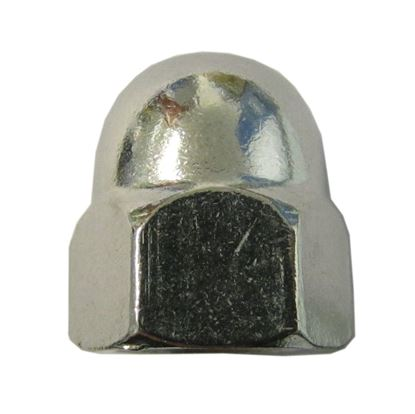 Picture of Nuts Dome Stainless Steel 4mm Thread uses 7mm Spanner (Per 20)