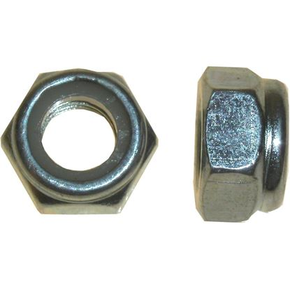 Picture of Nuts Nyloc 7mm Thread Uses 11mm Spanner (Pitch 1.00mm) (Per 20)