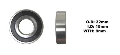 Picture of Bearing 6002DDU(I.D 15mm x O.D 32mm x W 9mm)