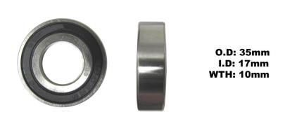 Picture of Bearing 6003DDU I.D 17mm x O. D 35mm x W 10mm