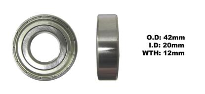 Picture of Bearing 6004Z(I.D 20mm x O.D 42mm x W 12mm)