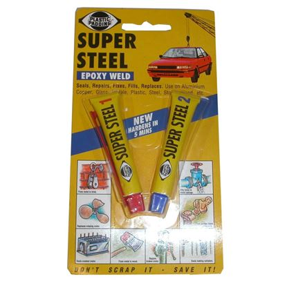 Picture of Loctite Super Steel Epoxy Weld, seals, repairs, fixes & fills