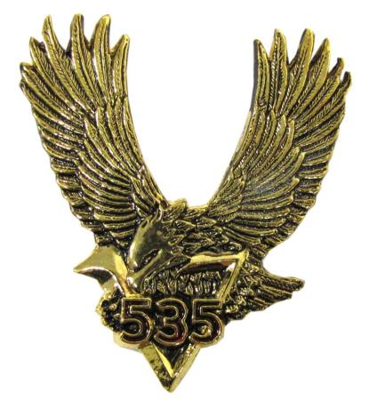 Picture of Emblem in Chrome V535 Eagle 55mm x 71mm