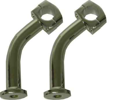 """Picture of Handlebar Risers 5"""" Chrome Pull Back (Pair)"""