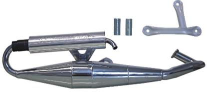 Picture of Exhaust Chrome Sports Piaggio Typhoon 50, NRG, Runner, Zip 50