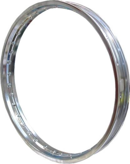"Picture of Chromed Steel Rim 1.60 x 17"" for 36 Spokes"