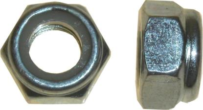 Picture of Nuts Nyloc 10mm Thread Uses 17mm Spanner (Pitch 1.25mm) (Per 20)