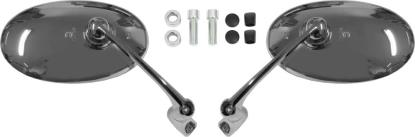Picture of Mirror 8mm & 10mm Bar End Chrome Oval Left and Right (Pair)