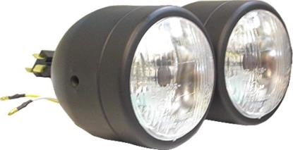 "Picture of Headlight Complete Black Twin 4.5""Side Mount (E Marked) (Pair)"