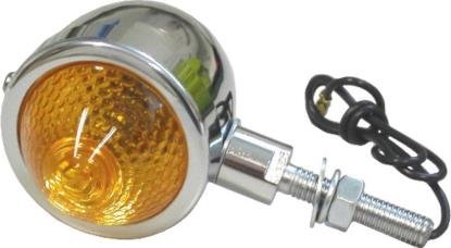 "Picture of Bullet Light Chrome with Amber Lens & 1"" Stem"
