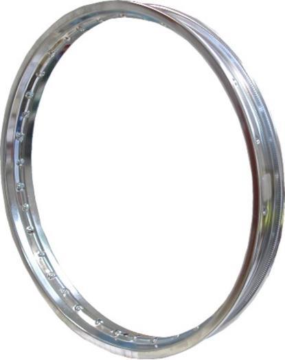 "Picture of Chromed Steel Rim 1.20 x 17"" for 36 Spokes"