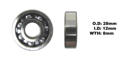Picture of Bearing 6001(I.D 12mm x O.D 28mm x W 8mm)