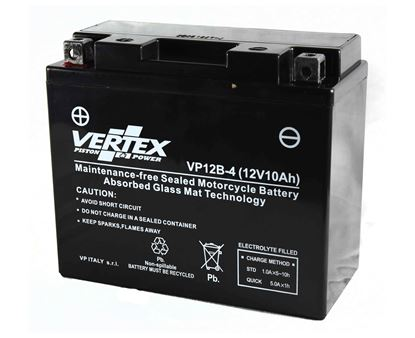 Picture of Vertex VP12B-4 Battery replaces CT12B-4, CT12B-BS