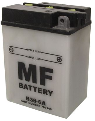 Picture of Battery (Conventional) for 1947 Triumph 5T Speed Twin (498cc) NO ACID