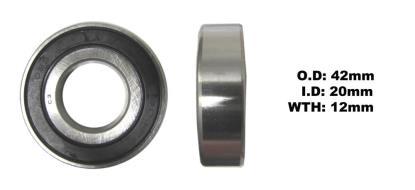 Picture of Bearing 6004DDU(I.D 20mm x O.D 42mm x W 12mm)